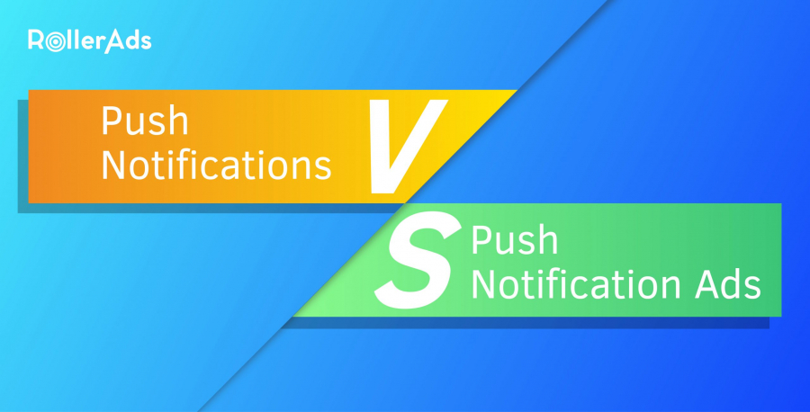 Push ads vs push notifications