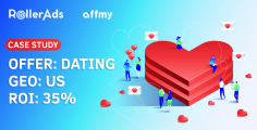 Dating offers from Affmy: Slaying the US GEO with a 35% ROI
